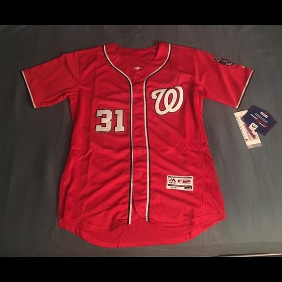 wholesale dealer 58fd2 c4ae1 Washington Nationals #31 Scherzer red jersey new NWT